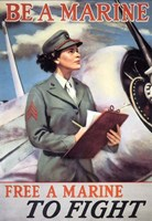 Woman Marines Fine Art Print