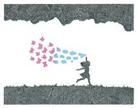 Butterfly Bubbles Fine Art Print