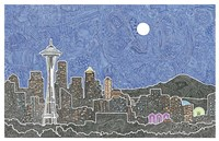 Seattle's Night Fine Art Print