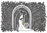 Wedding Kiss Fine Art Print
