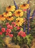 Daises and Moss Rose Fine Art Print