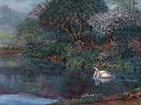 Romance In The Garden Fine Art Print
