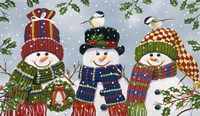 Snowman Trio Fine Art Print