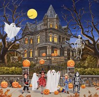 Beware - Haunted House Fine Art Print