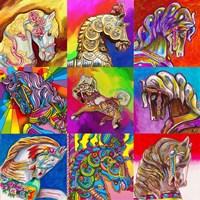 Carousel Ponies Fine Art Print