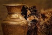 Behind The Antique Vase Fine Art Print