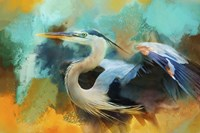 Colorful Expressions Heron Fine Art Print
