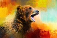Colorful Expressions Grizzly Bear 2 Fine Art Print