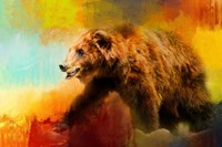 Colorful Expressions Grizzly Bear Fine Art Print