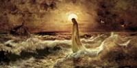Christ On Water Fine Art Print