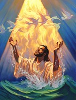 Christian Baptism Of Jesus Fine Art Print