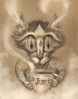 Coffee Cat Go Juice Fine Art Print