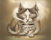 Coffee Cat Fine Art Print