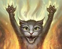 Pyscho Cat Fine Art Print