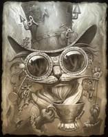 Steampunk Cat Fine Art Print
