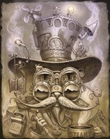 Steampunk Cat 2 Fine Art Print