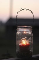 Candle in a Mason Jar Fine Art Print