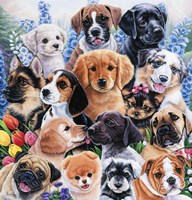 Puppy Collage Fine Art Print