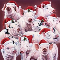 Christmas Piggies Fine Art Print