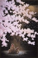 Falling Cherry Blossoms Fine Art Print