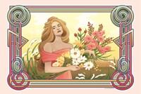 Spring Nouveau Fine Art Print