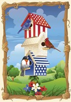 Star Spangled Birdhouse Fine Art Print