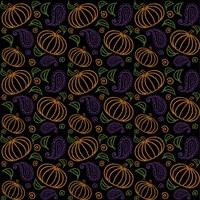 Paisley Pumpkin Pattern Fine Art Print