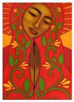 Red Madonna Fine Art Print