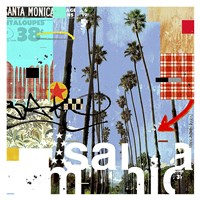 Santa Monica Signs Fine Art Print