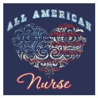 All American Nurse Fine Art Print