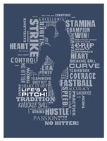 Baseball Words Fine Art Print