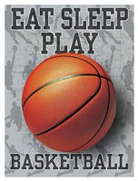 Eat Sleep Play Basketball Fine Art Print