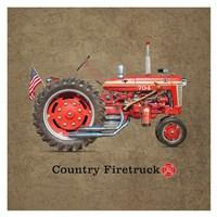 Fire Tractor Fine Art Print
