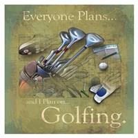 Golfing Fine Art Print