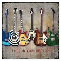 Guitar line up Fine Art Print
