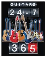 Guitars 24-7, 365 Fine Art Print