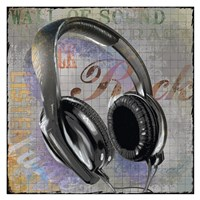 Headphones Fine Art Print