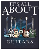 It's All about Guitars Fine Art Print