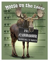 Moose on the Loose Fine Art Print