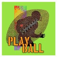 Play Ball Football Fine Art Print