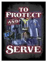 Protect and Serve Fine Art Print