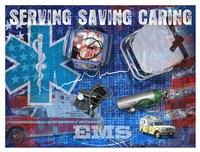 Serving Saving Caring Fine Art Print