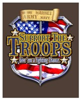 Support the Troops Badge Fine Art Print