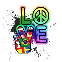 World Peace & Love Fine Art Print