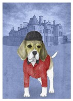 Beagle with Beaulieu Palace Fine Art Print