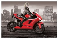 Marilyn's Motorcycle Fine Art Print