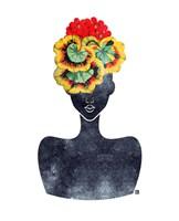 Flower Crown Silhouette IV Fine Art Print
