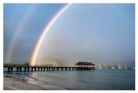 Rainbows at Hanalei Fine Art Print