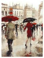 Parting on a Paris Street Fine Art Print