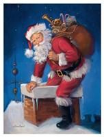Here Comes Santa Fine Art Print
